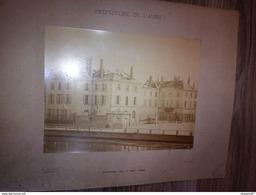 PHOTO PREFECTURE DE L AUBE TROYES INCENDIE DU 7 MAI 1892 PHOTO GUYOT - Lieux