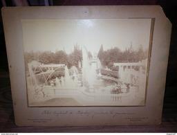 PHOTO PETERHOF PALAIS IMPERIAL PENDANT LES GRANDES EAUX FONTAINES PHOTOGRAPHIE DE JONGH FRERES - Lieux