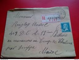 Enveloppe Correspondance Militaire Recommande Pour Les Ricey Aube - Marcophilie (Lettres)