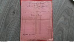 FACTURE MERCERIE EN GROS LOUIS CHAVANCE AUXERRE COURSON 20 MARS 1900  MR MONTENOT - France