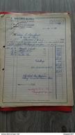 ENSEMBLE FACTURES J. BOUTINOT DEPREZ SENS NOVEMBRE DECEMBRE 1952 - Frankreich