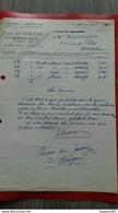 FACTURE FABRIQUE D HORLOGERIE PAUL CUANILLON LE PERREUX SEINE 1952 - Frankreich