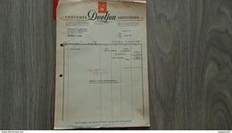 FACTURE COUVERTS DEETJEN ORFEVRERIE  AUXERRE YONNE 1952 - Frankreich