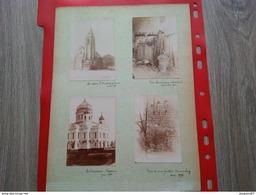 PHOTO 8 PIECES SUR CARTON 1895 MOSCOU UN CHEMINEAU CAEN CHATEAU DE CORDAY - Lieux