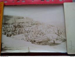 LOT 3 GRANDE PHOTO ALGERIE FORT MARCHE ECOLE MILITAIRE LIEU A IDENTIFIER - Lieux