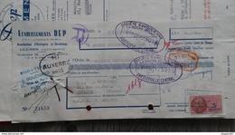 ENSEMBLE FACTURES ETABLISSEMENT DEP MANUFACTURE D HORLOGERIE ET DECOLLETAGE CLUSES HAUTE SAVOIE 1952 - Frankreich