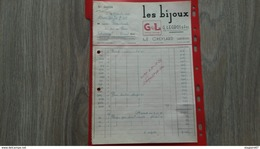 FACTURE LES BIJOUX G.LEGROS ET FILS LE CHEYLARD ARDECHE  1952 - Frankreich