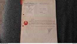 FACTURE ORFEVRERIE ARGENT ET OR MAISON HENIN PARIS 1951 - Frankreich