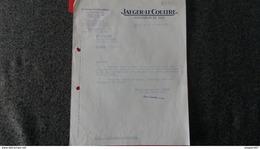 FACTURE HORLOGERIE DE LUXE JAEGER LECOULTRE PARIS 1952  PAPIER FILIGRAMME - Frankreich