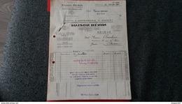 ENSEMBLE FACTURES TOUTE L ORFEVRERIE D ARGENT MAISON HENIN PARIS 1952 - Frankreich