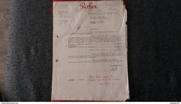 ENSEMBLE FACTURES PERFEX FABRIQUE DE MONTRES SOIGNEES BESANCON 1952 - Frankreich