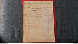 ENSEMBLE FACTURES FABRIQUE DE BIJOUTERIE ET JOAILLERIE LUCIEN PFERTZEL STRASBOURG 1952 - Frankreich