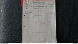 ENSEMBLE FACTURE FABRIQUE DE CHAINES ET DE BIJOUTERIE DE FANTAISIE G. L. SCHOSSELER MONTREUIL S. BOIS 1952 - Frankreich