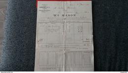 FACTURE AGENT DES MAISONS ARMOUR AND CO CHICAGO ET ARMOUR PACKING CO KANSAS CITY 1904 WM MASON - Etats-Unis