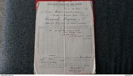 FACTURE HUILES D OLIVE DE NICE RINAUDO MAJANO ET CIE  1904 - Frankreich