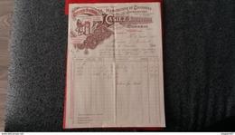 FACTURE MANUFACTURE DE CHICOREES SUPERIEURES CASIEZ BOURGEOIS CAMBRAI 1904 - Frankreich