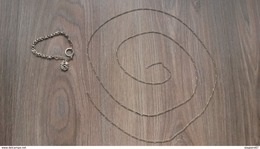 LOT CHAINE ET BRACELET ARGENT 35G - Colliers/Chaînes