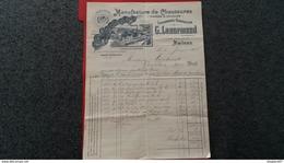 FACTURE MANUFACTURE DE CHAUSSURES VISSEES ET COUSUES LENORMAND CARPENTIER AMIENS 1904 - Autres
