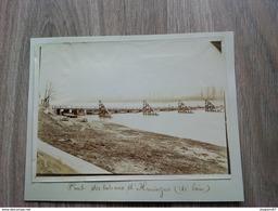 PHOTO PONT DES BATEAUX D HUNINGUE ALSACE 17.5X13CM - Lieux
