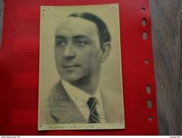 PHOTO ARTISTE OPERA  AVEC DEDICACE A IDENTIFIER HAVRE 1936 - Foto Dedicate