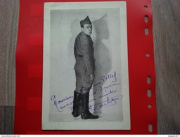 PHOTO DEDICACE A IDENTIFIER OPERA COMIQUE SOLDAT - Foto Dedicate
