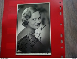 PHOTO DEDICACE A IDENTIFIER OPERA LA HAVRE 1937 PHOTO MARANT PARIS - Foto Dedicate