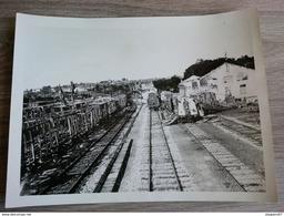 PHOTO GARE DE NEUFCHATEAU 23.5X17.5CM - Trains