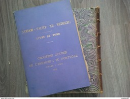 MAGNIFIQUE ALBUM PHOTO STEAM YACHT AR NEDELEC 1899 CROISIERE ESPAGNE MAROC PORTUGAL - Albumes & Colecciones