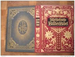 BIBLE MAGNIFIQUE DORURE SUR LE PREMEIR PAGE NOMBREUSES GRAVURES BILDER BIBEL KATHOLISCHE - Livres, BD, Revues