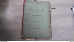 LE LIVRE DE RUTH  LEMAISTRE DE SACY GRAVURES DE BLIDA - 1801-1900