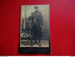 PHOTO MILITAIRE SOLDAT 167 EME REGIMENT 1914 PHOTOGRAPHE ODINOT NANCY - Guerre, Militaire