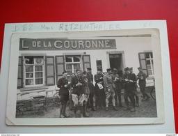 PHOTO CAFE DE LA COURONNE GENDARME MME RITZENTHALER - Lieux