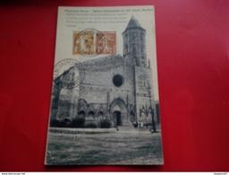 FLEURANCE GERS EGLISE CACHET CONGRES MONDIAL PUBLICITE PARIS 1937 - Marcophilie (Lettres)