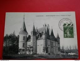 MONTESQIOU GERS CHATEAU DU HAGET CACHET CONGRES INT. PSYCHOLOGIE PARIS 1937 - Marcophilie (Lettres)