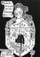 ILLUSTRATEUR ROBERT FARABOZ  CARTE PERSONNELLE RECHERCHE CP GENDARMERIE  ÉCUSSON - Autres Illustrateurs