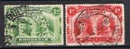 COLONIE ANGLAISE RHODESIE YT 21/22 & 40/41 - Grande-Bretagne (ex-colonies & Protectorats)