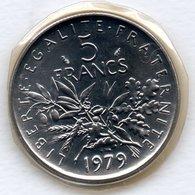 5 Francs 1979   - état  FDC  - Scellée - France
