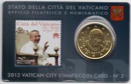 2012 VATICANO - PONTIFICATO PAPA BENEDETTO XVI - CENTENARIO DELLA NASCITA DI PAPA GIOVANNI PAOLO I STAMP&COIN CARD N.2 - Vatican