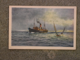 AALBORG LINES ART CARD - AT SEA - Cargos