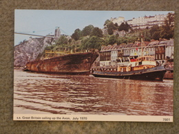 SS GREAT BRITAIN SAILING UP THE RIVER AVON 1970 - Cargos