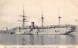 """¤¤   -   Le Bateau """" LA GIRONDE """" Transport De L'état Au Moment De Son Appareillage Pour Le Maroc  -   ¤¤ - Warships"""