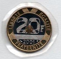 20 Francs 2001   - état  FDC  -  Scellée - L. 20 Francs