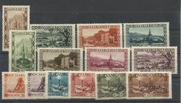 SARRE YVERT   107/120  MH * - 1920-35 Sociedad De Naciones