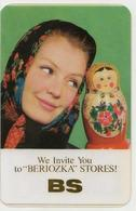 Calendarik Russia - USSR - 1970 - Shop Birch - Beauty - Shawl - Matryoshka - Rare Book - Beautiful. - Calendars