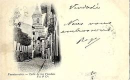 Espagne   FUENTERRABIA   - CALLE DE LAS  TIENDAS  En 1899 - Espagne