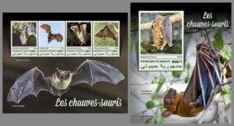 DJIBOUTI 2019 MNH Bats Fledermäuse Chauves-souris M/S+S/S - OFFICIAL ISSUE - DH1913 - Chauve-souris