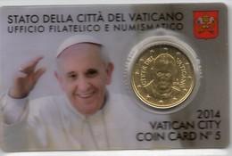 2014 VATICANO - PONTIFICATO PAPA FRANCESCO - ANNO II - COIN CARD N.5 - Vatican