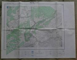 25 MOUTHE PONTARLIER Carte TOPOGRAPHIQUE 1964  1/25 000e - Cartes Topographiques