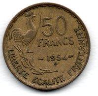 50 Francs 1954 B  - état  TTB - M. 50 Francs