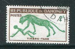 DAHOMEY- Taxe Y&T N°33- Oblitéré - Bénin – Dahomey (1960-...)